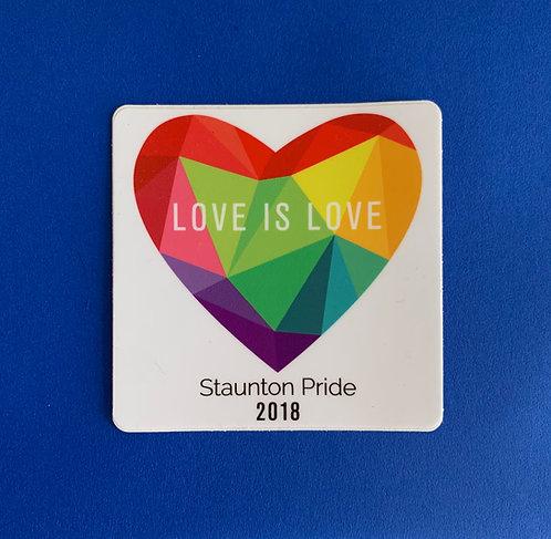2018 LOVE IS LOVE HEART