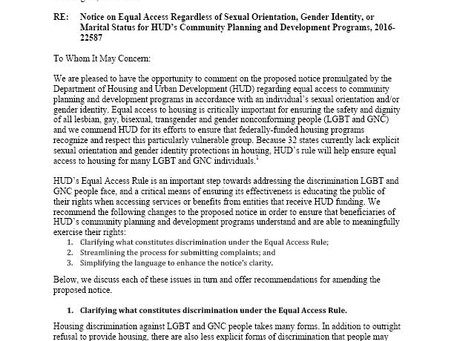 Notice on Equal Access Regardless of Sexual Orientation, Gender Identity, or Marital Status for HUD'