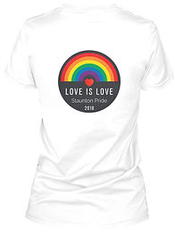 Record Love is Love Womens V-Neck.jpeg