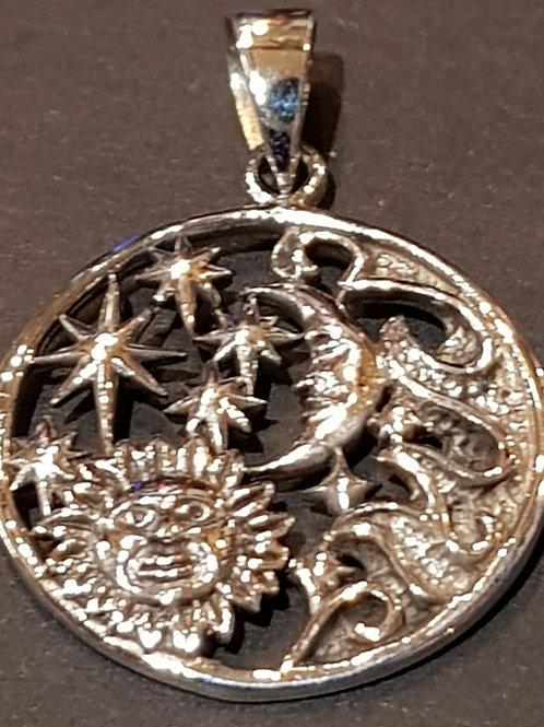 Sun Moon and Stars Pendant