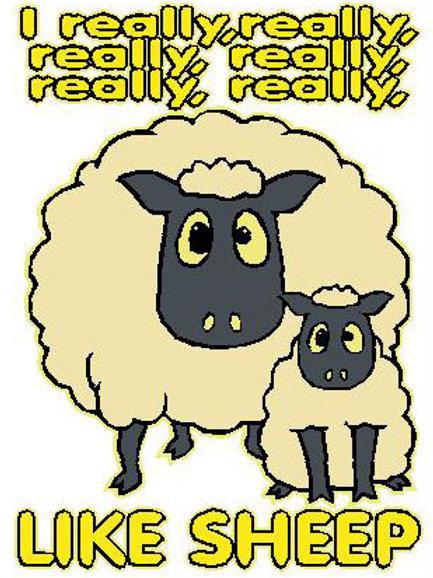 SH40 I Really,Really,Really,Really,Really,Really Love Sheep Window Sticker