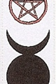 PWD01 Goddess Symbol Window Sticker