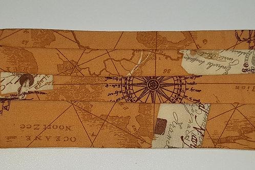 SteamPunk Map Folded Mask