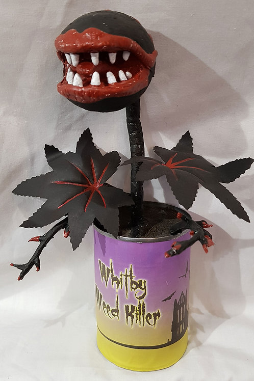 Bloomin' Horrors Weed Killer Tin Black Leaves