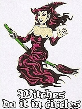 PWD 44 Witches Do It In Circles Window Sticker