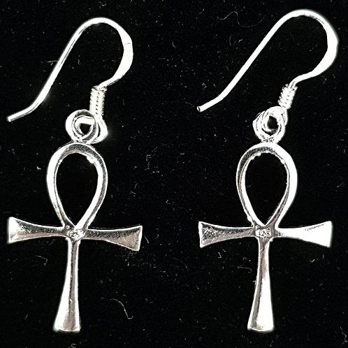Small Plain Ankh Earrings