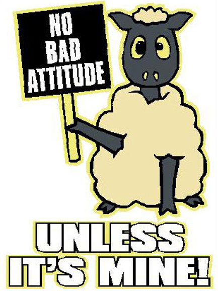 SH34 No Bad Attitude,Unless It's Mine! Window Sticker