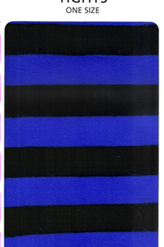 Striped Tights Black & Blue