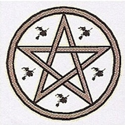 PWD33 Pentacle And Witches Window Sticker