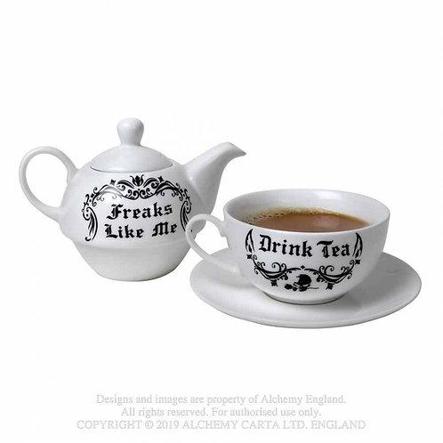 Tea For One Freaks Like Me Tea Pot Set