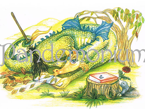 Virgo Zodiac Dragon Card