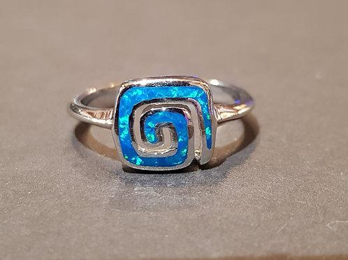 Blue Swirl Ring