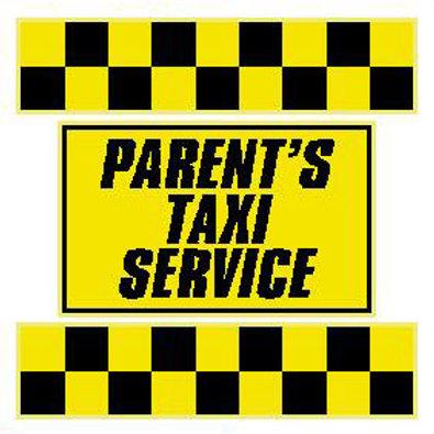 USR13 Parent's Taxi Service Window Sticker