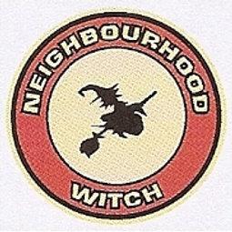 GCP39 Neighbourhood Witch (Round) Window Sticker