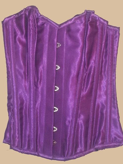 """Burleska Satin Overbust Corset Purple (24"""")"""