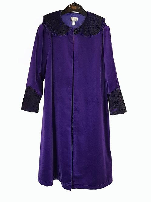 Childs Cape/Coat Purple Velvet With Black Trim