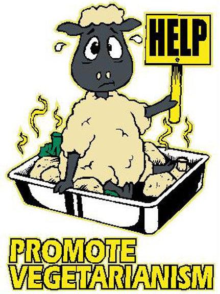 SH30 Help! Promote Vegetarianism Window Sticker