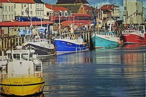 Whitby Boats Print