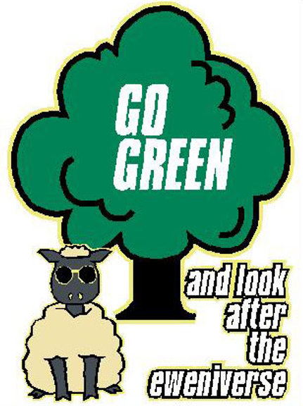 SH18 Go Green And Look After The Eweniverse Window Sticker
