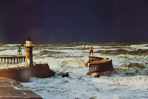 Whitby  Storm Piers Card