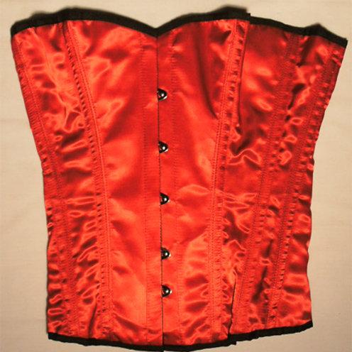 Satin Corset Red (Medium)