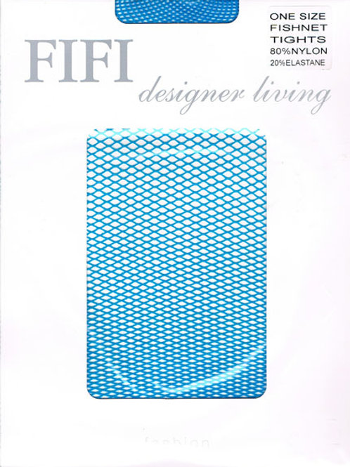 FiFi Fishnet Tights (Turquoise)