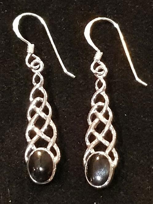 Celtic Droplet Earrings