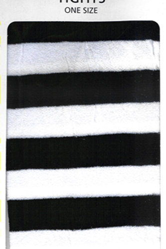 Striped Tights Black & White