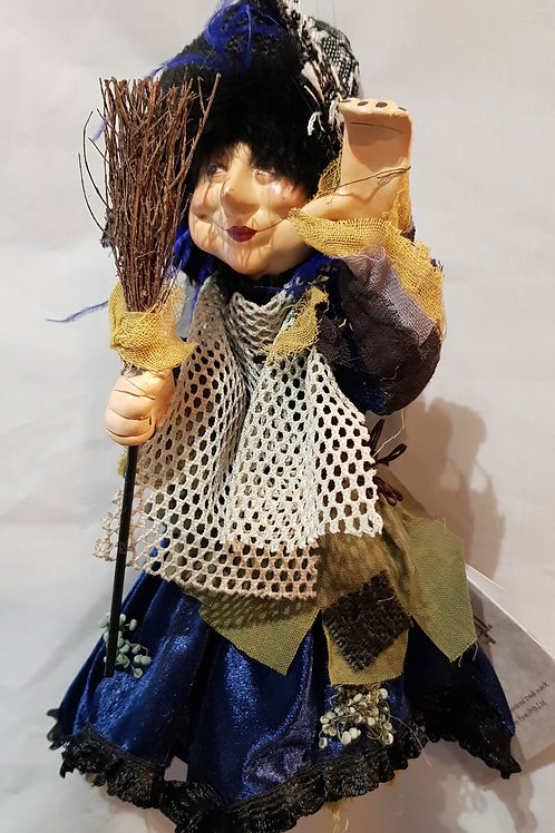 Pendle Witch Rosemary. Blue 35cm
