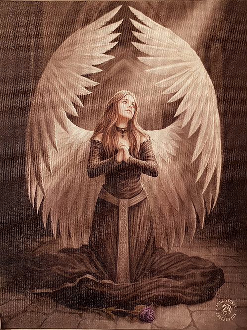 Anne Stokes Wall Plaque Prayer For The Fallen