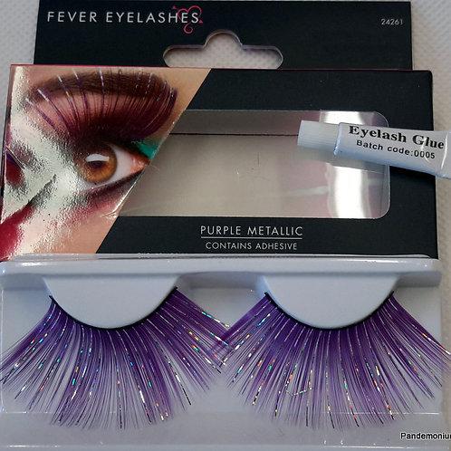 Lashes Purple Metallic