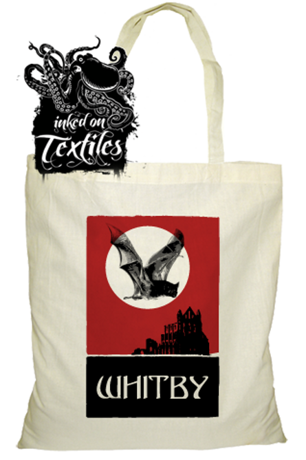 Whitby Tote Bag Abbey & Bat