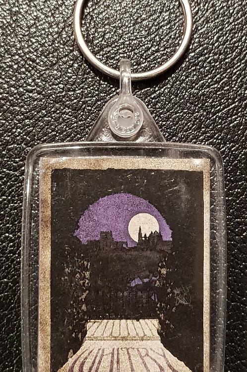 Whitby Keyring Purple