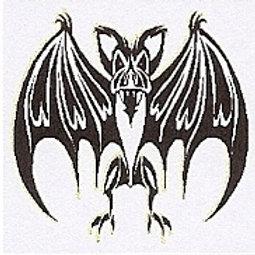 GCP37 Tribal Bat Window Sticker