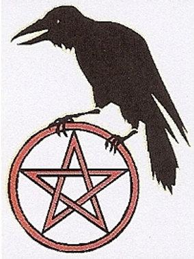 Pentagram Crow Window Sticker