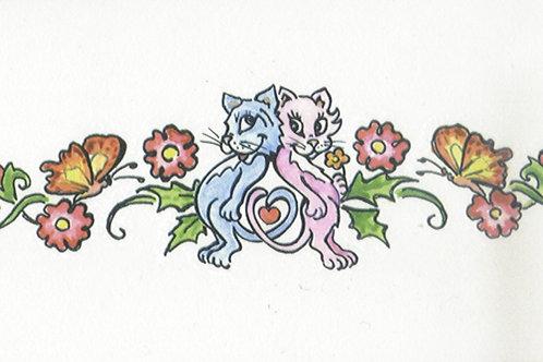Love Cats Armband Tattoo