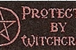 PWD09 Protected by Witchcraft (Pentacle) Window Sticker