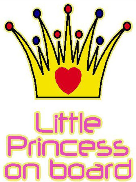 Little Princess On Board Window Sticker