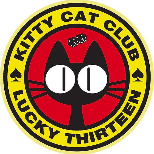 237 Kitty Cat Club Lucky Thirteen Window Sticke