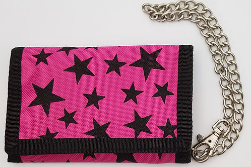 Wallet Pink with Black Stars