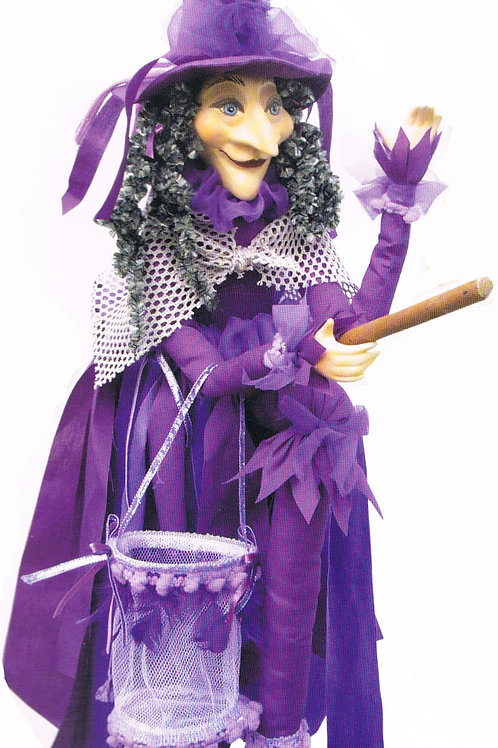 Pendle Witch Klaudia Flying 65cm Purple