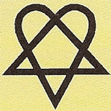GCP41 Heartagram Window Sticker