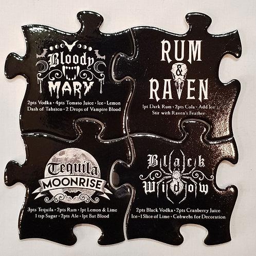 Alchemy Cocktail 4 Coaster Set