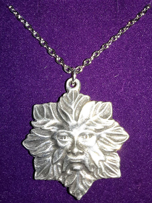 St Justin Green Man Necklace