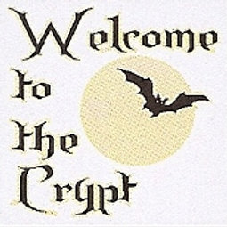GCP38 Welcome to the Crypt Window Sticker