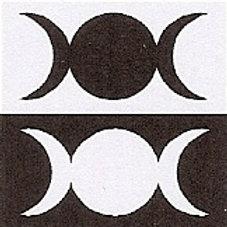 PWD39  Triple Goddess Window Sticker