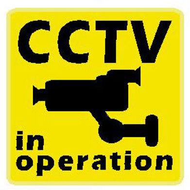 USR14 CCTV In Operation Window Sticker