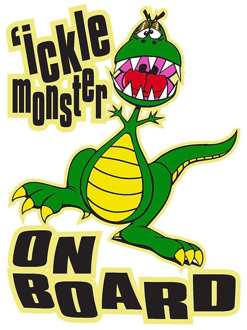 89 'Ickle Monster On board Window Sticker