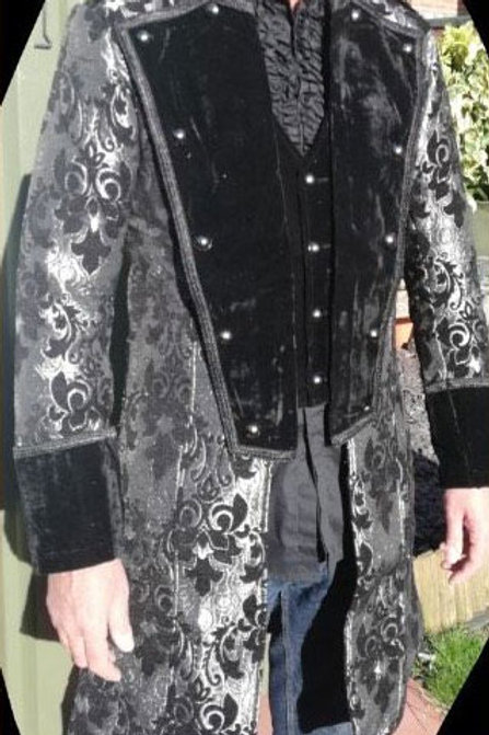 Silver Flock Jacket
