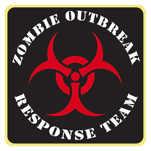 113 Zombie Outbreak Response Team Window Sticker